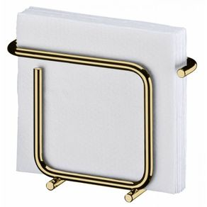 Porta-Guardanapos-Design-Moderno-Aco-Dourado